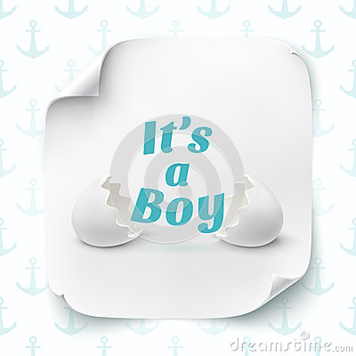 Its A Boy Template For Baby Shower Celebration Stock