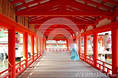 Itsukushima Shrine Monk