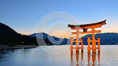 Itsukushima Torii Gate in Miyajima, Japan