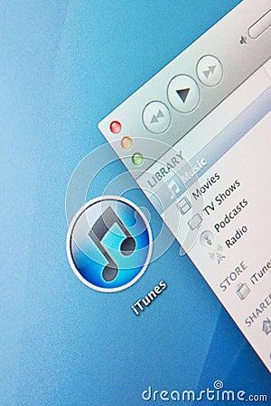 iTunes Editorial Stock Photo