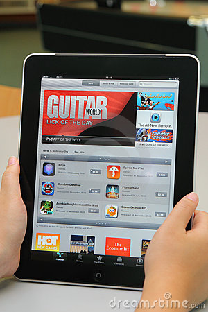 iTunes Application on Apple iPad Editorial Image