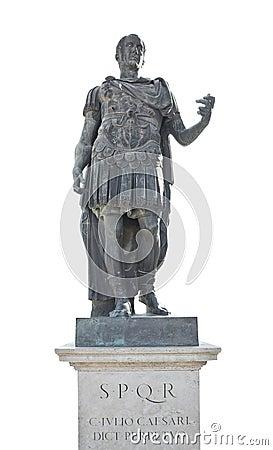 Iulius caesar emperor statue