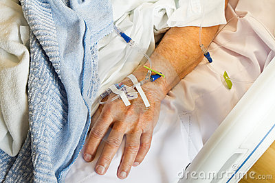 IV in Hospital Patient Hand