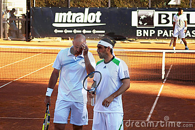 Ivan Ljubicic and Marcos Baghdatis Editorial Stock Photo