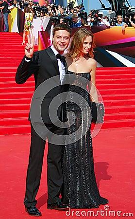 Ivan Nikolaev no festival de cinema de Moscou Foto de Stock Editorial