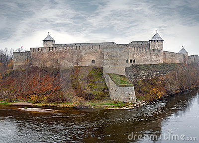 Ivangorod fortress at the Narva river.