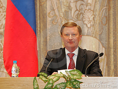 Ivanov, Russia s First Deputy Prime Minister Editorial Stock Photo