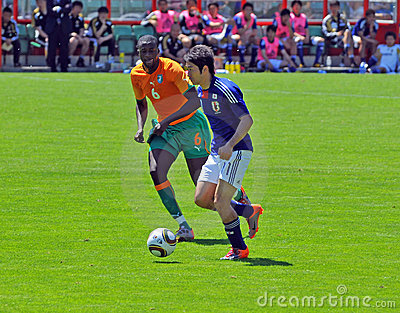 Ivory coast and Japan football match Editorial Stock Photo