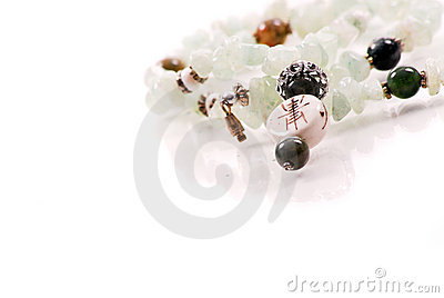 Ivory and Jade Stone Necklace