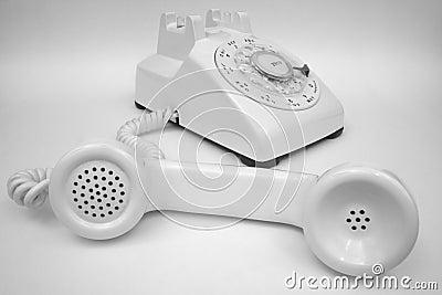 Ivory Rotary Phone Greyscale