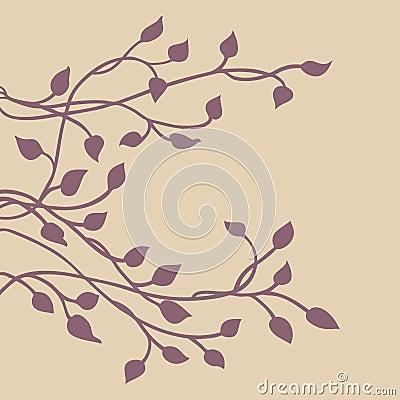 Free Ivy Vine Silhouette, Elegant Purple Floral Decorative Side Border Design Element Of Leaves,, Pretty Wedding Invitation Design Royalty Free Stock Image - 120125666