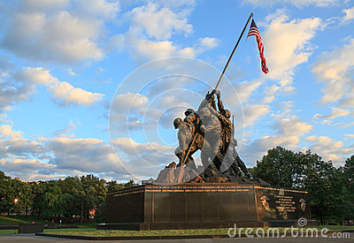 Iwo Jima Marine Memorial Arlington VA Editorial Image