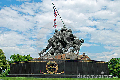 Iwo Jima Memorial in Washington DC Editorial Image