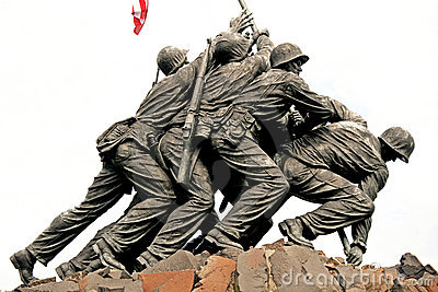 Iwo Jima Memorial in Washington DC Editorial Stock Image