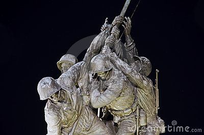 Iwo Jima monument fragment
