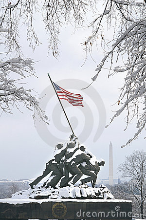 Iwo Jima In Winter Snow