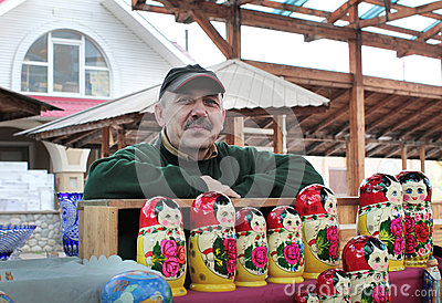 Izmailovo souvenir market. Moscow