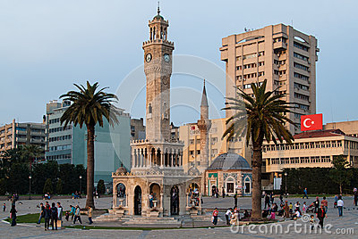 Izmir Clock Tower, Turkey Editorial Photo