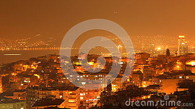 Izmir Night Wiew Editorial Photo