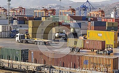 Izmir port Editorial Photo