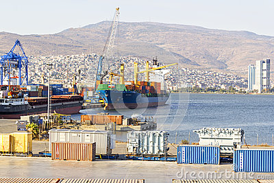 Izmir port Editorial Stock Image