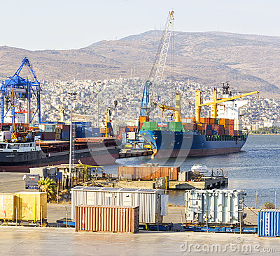 Izmir port at Alsancak Editorial Stock Image