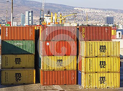 Izmir port Editorial Stock Photo