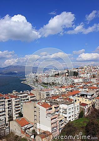 Izmir s view from Asansor Tower
