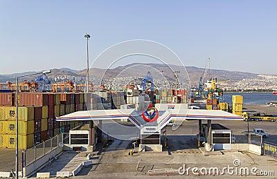 IZMIR, TURKEY : Izmir port at Alsancak Editorial Stock Image