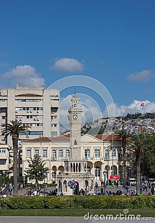 Izmir view with Saat Kulesi