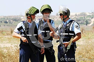 Izrael policja Obraz Stock Editorial