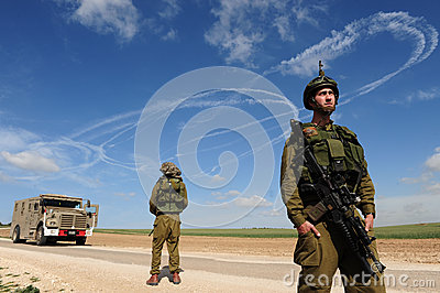 Izraelita Zbrojący konflikt Fotografia Editorial