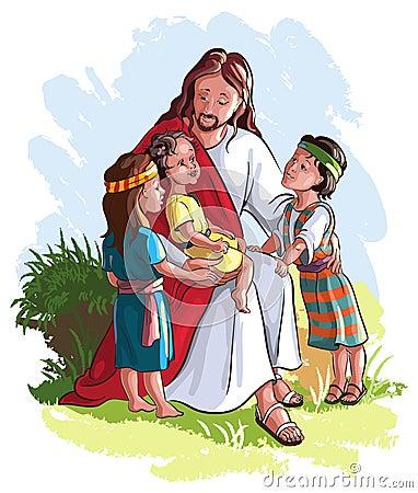 Jésus avec des enfants