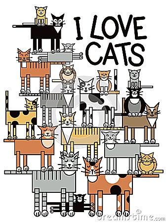 J aime des chats