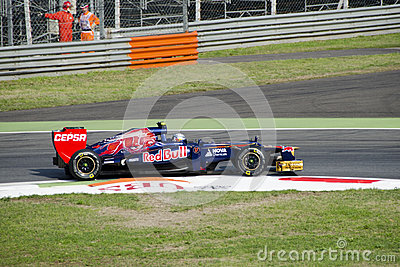 J. B. Vergne in Monza 2012 practice day. Editorial Stock Photo