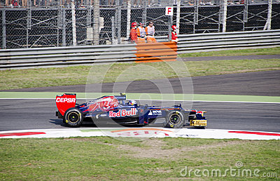 J. B. Vergne in Monza 2012 practice day. Editorial Photo