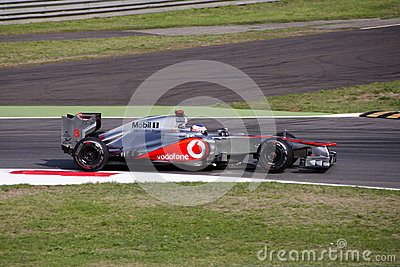 J. Button  in Monza 2012 practice day. Editorial Stock Image
