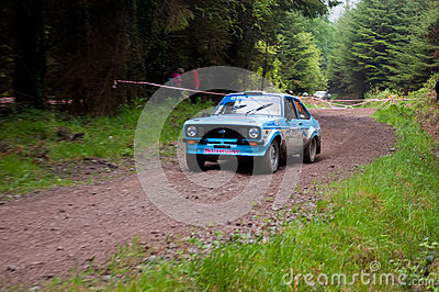 J. Coleman driving Ford Escort Editorial Image
