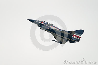 J-10 fighter jet from Bai aerobatic team Editorial Photography