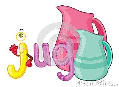 J for jug