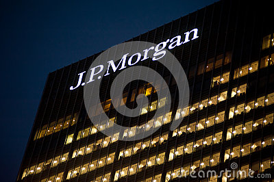 The J.P. Morgan headquarter in London Editorial Image