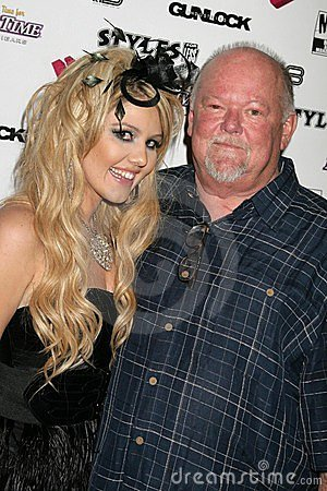 J.Smith and her father at the J.Smith Music Video Debut Premiere Party. Les Deux, Hollywood, CA. 02-25-09 Editorial Stock Image