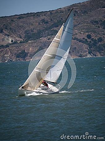 J30 Sailboat heeling