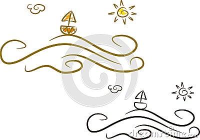 Ja ikon oceanu lato