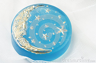 Jabón hecho a mano de la luna