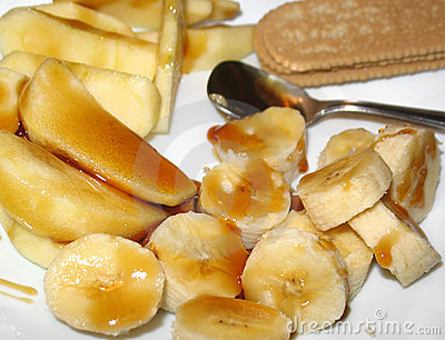 Jabłczanego banana deseru miód