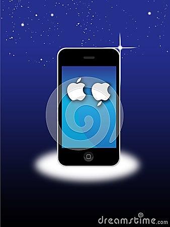 Jabłczany MAC Iphone 4S opłakuje śmierć Steve Pracy Zdjęcie Stock Editorial