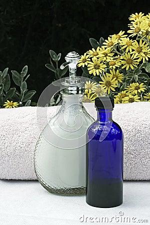 Jabón líquido y toallas