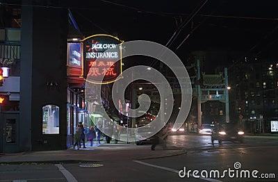 Jack Chow Insurance At Night Free Public Domain Cc0 Image