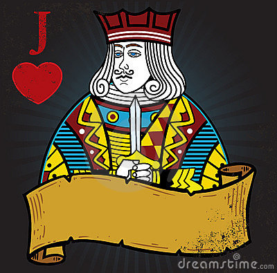 Jack of Hearts with banner
